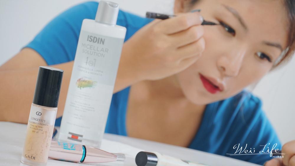 使用好用卸妝水卸妝